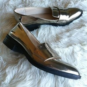 ZARA Loafer Flats Slide On Mule Shoes Size
